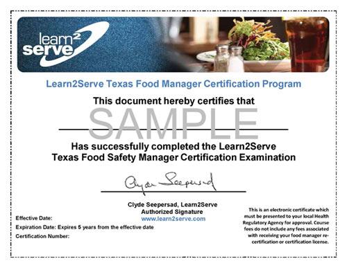 Get Food Handlers License Texas